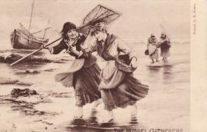 The Mussel Gatherers , 1904 ; TUCK