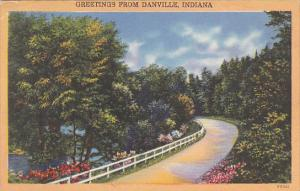 Greetings From Danville Indiana 1955