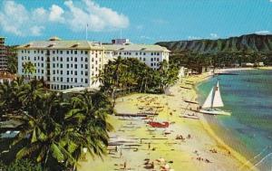 Hawaii Waikiki The Beautiful Moana Hotel On The Beach At Waikiki