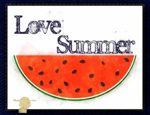 Set of 6 Digital Art Watercolor Watermelon All Occasion Handmade Postcards