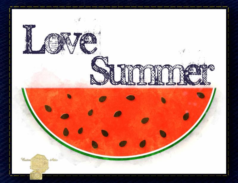 Single Copy(1) Digital Art Watercolor Watermelon All Occasion Handmade Postcards