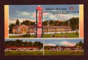 DE DELAWARE Auto Court Motel NEW CASTLE Postcard PC