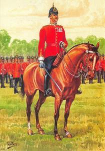 Postcard The Essex Regiment, The Commanding Officer, General Salute 1881 #27-1