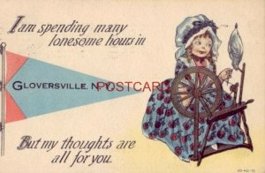 1913 I AM SPENDING MANY LONESOME HOURS IN GLOVERSVILLE, N. Y.