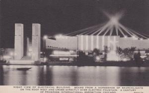 CHICAGO , Illinois , 1933 Exposition ; Electric Bldg at night