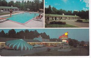 EMPORIA, Virginia, 1940-60s; Motel Emporia at night, Swimming Pool, Classic Cars