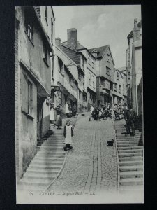 Devon EXETER Stepcote Hill ANIMATED STREET SCENE - Old Postcard by Levy LL.52
