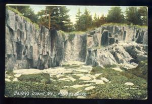 Bailey's Island, Maine/ME Postcard, Pirates Cave, 1907!
