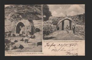 078987 Palestine Fountain Apotres on road Jericho Vintage PC