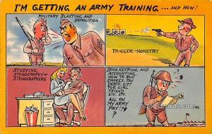 Military Comic Postcard, Old Vintage Antique Post Card Series P Army Comics U...