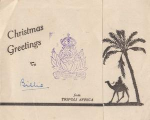 Tripoli Africa Antique Postcard Style Christmas Card & Photo