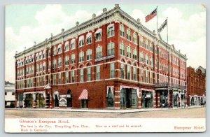 Little Rock Arkansas~Gleason First Class European Hotel~2nd & Center Street~1910