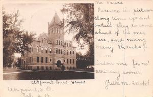 Elkpoint South Dakota~Courthouse~Undivided Back Postcard RPPC 1906