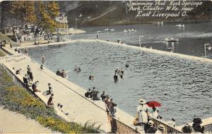 Chester West Virginia~Rock Springs Park-People @ Swimming Pool~c1910 Postcard