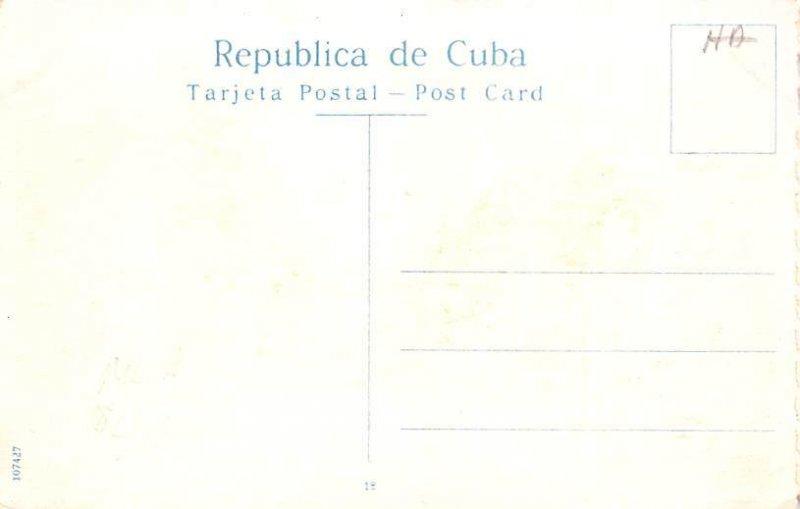 Paseo del Prado Mto a Manuel de la Cruz Habana Cuba, Republica de Cuba Unused
