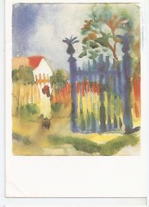 Postal 045647 : August Macke. Gardens Gate. Aquarelle 1914