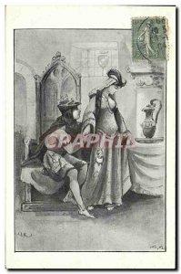 Old Postcard Love Erotic Woman