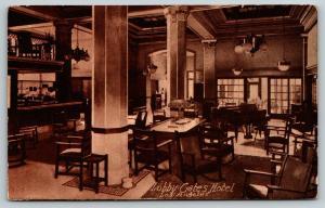 Los Angeles California~Gates Hotel~Lobby~Room With Bath for Dollar & Half~1910