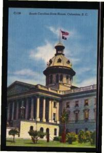 South Carolina colour PC State House, Columbia, unused