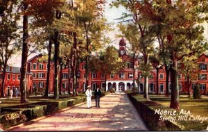 Alabama Mobile Spring Hill College 1910 Curteich