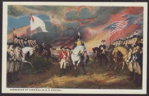 Surrender of Cornwallis,Painting Postcard