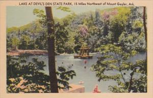 Arkansas Mount Gaylor Lake Scene At Devil's Den State Park