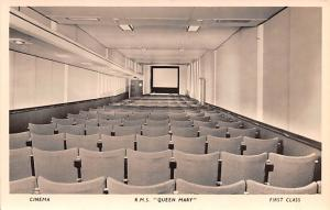 Cinema, RMS Queen Mary, First Class Ship Unused