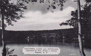Columbia Lake And Cottages Operated By Mrs Floyd J Davies Deposit New York De...