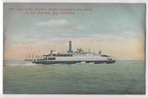 Southern Pacific Company Oakland Ferry Boat San Francisco CA California Postcard