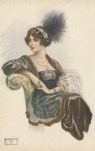 ART DECO ; RAPPINI ; Female portrait , 1910-30s