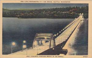Only Concrete Pontoon Brdg In The World, Lake Washington Pontoon Bridge, Seat...