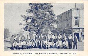 H69/ Gunnison Colorado Postcard c1935 Community Christmas Tree 124