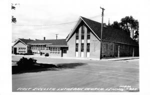 Lennox South Dakota~First English Lutheran Church~1950s Real Photo Postcard~RPPC