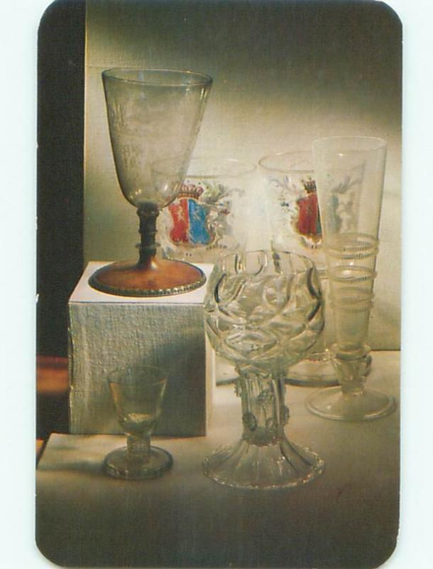 Pre-1980 POSTCARD OF ANTIQUE LEAD GLASS AT MUSEUM Corning New York NY W5281