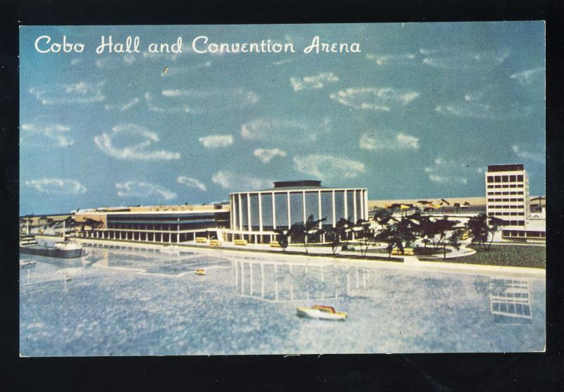 Detroit, Michigan/MI Postcard, Cobo Hall & Convention Arena, 1960's?