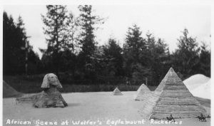 RPPC African Scene Wolfer's Eaglemount Rockeries Washington Postcard