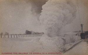 RP: EDZELL , Saskatchewan , Canada , 00-10s 1/2; Snow Plow Railroad