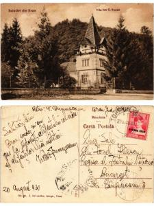 CPA BRAN Vila Ion G. Stoian. ROMANIA (500650)