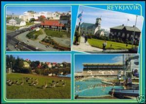 iceland REYKJAVIK, Multiview, Swimming Pool, Church 70s