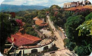 Taxco Gro. Mexico~Birdseye View: Road to Hotel Victoria~1958 Postcard