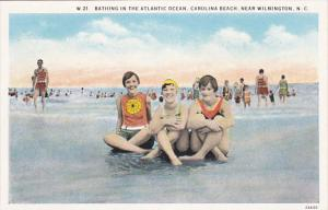 Bathing In The Atlantic Ocean, CAROLINA BEACH, Near Wilmington, North Carolin...