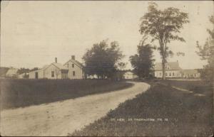 South Thomaston ME Street View c1910 Real Photo Postcard