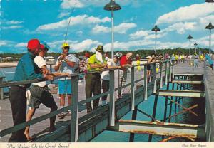Surfside Pier, Pier Fishing On the Grand Strand, South Carolina, 50-70´s