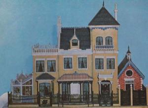 Thomas Risley Antique Model Villa Victorian 1889 London Museum Exhibit Postcard