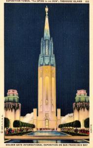 California San Francisco Exposition Tower Golden Gate International Expo