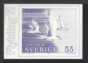 Sweden Bird Stamp,Slania Postcard