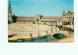 Postcard Sevilla Place de Espagne Courtyard Bridge River  Spain   # 4188A
