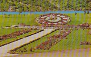 Canada Floral Clock At Beechwood Generating Station St John New Brunswick