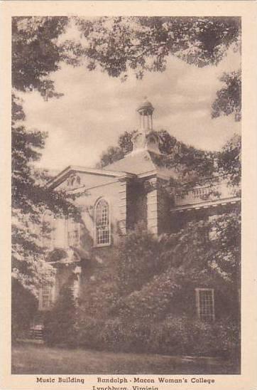 Virginia Lynchburg Music Building Randolph Macon Womans College Albertype