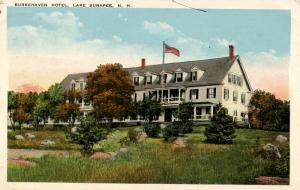 NH - Lake Sunapee. Burkehaven Hotel.   *RPO- Concord & Claremont Junction Rai...